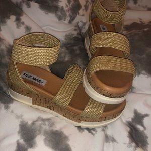 Steve Madden Brandi Woven Tan Sandal 6.5